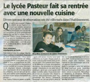 article Lycée Pasteur