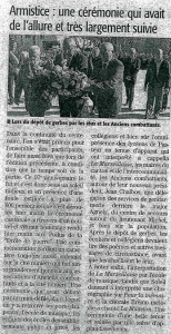 article ceremonie du 11 nov