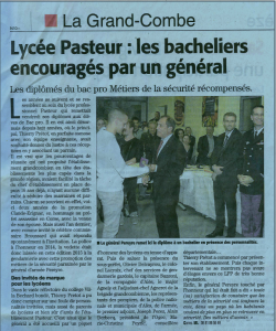 article lycee pasteur ceremonie